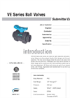 VE Valves SUBMITTAL Data Sheet